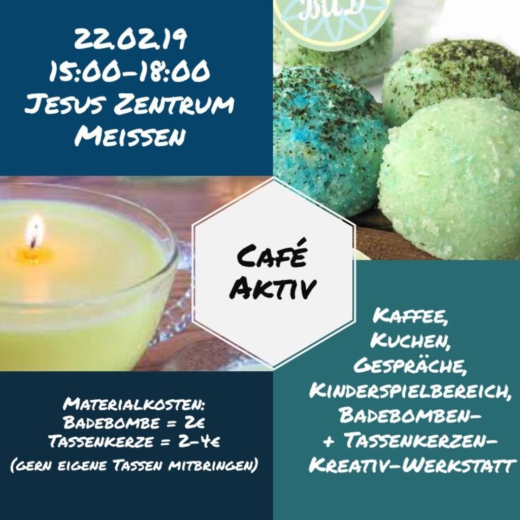 Flyer Café Aktiv Kreativwerkstatt