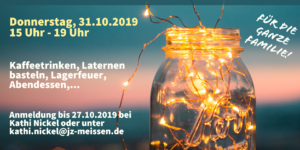Flyer Lichterfest zum Reformationstag