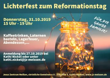 Flyer Lichterfest zum Reformationstag