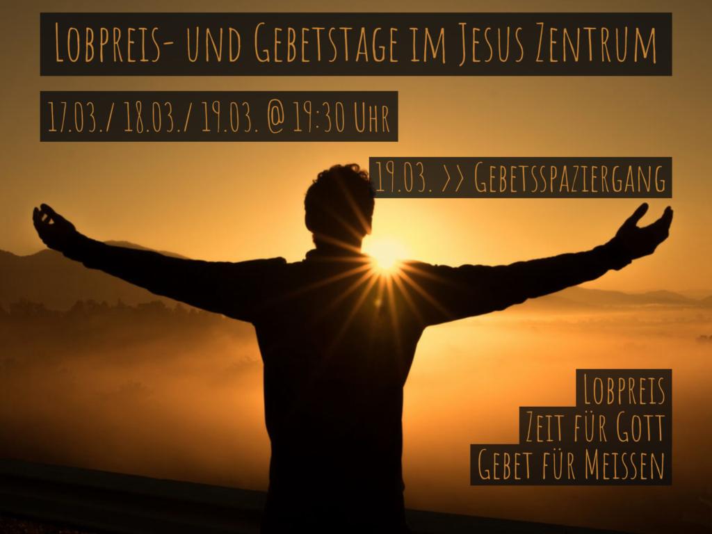 Flyer Lobpreis- und Gebetstage