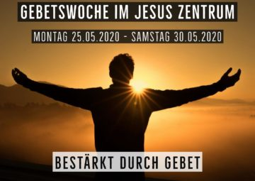 Flyer Gebetswoche im JZM