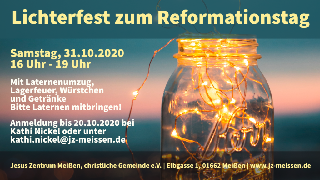 Flyer Lichterfest 2020