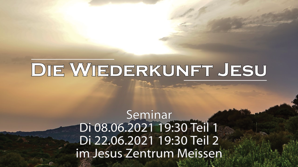 Flyer Seminar Die Wiederkunft Jesu